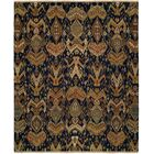 Rabigh Hand-Woven Brown/Black Area Rug Rug Size: Rectangle 4' x 6'