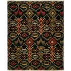 Suez Hand-Woven Black/Brown Area Rug Rug Size: Round 8'