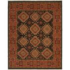 Montt Hand-Woven Black/Red Area Rug Rug Size: Rectangle 8' x 10'