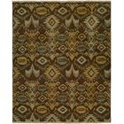 Gon Hand-Woven Brown/Green Area Rug Rug Size: Rectangle 2' x 3'