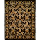 Anchorage Hand-Knotted Black/Gold Area Rug Rug Size: 10' x 14'