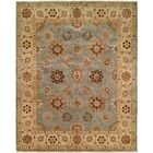 Hand-Knotted Blue/Ivory Area Rug Rug Size: Runner 2'6