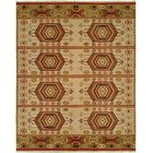 Qinhuangdao Hand-Woven Beige/Red Area Rug Rug Size: Rectangle 2' x 3'