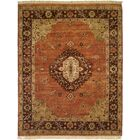 Hay Hand-Knotted Brown/Orange Area Rug Rug Size: 12' x 15'