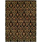 Kaohsiung Hand-Knotted Black/Gold Area Rug Rug Size: Rectangle 9' x 12'