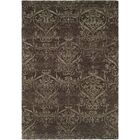 Bangkok Hand-Knotted Gray Area Rug Rug Size: Round 10'