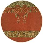 Iquique Hand-Woven Red/Green Area Rug Rug Size: Round 10'