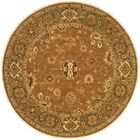 Hand-Knotted Brown Area Rug Rug Size: Round 8'