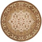 Melbourne Hand-Knotted Beige Area Rug Rug Size: Round 10'