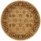 La Paz Hand-Knotted Brown Area Rug Rug Size: Round 6'
