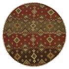 Jinzhou Hand-Woven Red/Brown Area Rug Rug Size: Round 8'