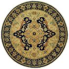 Hand-Knotted Yellow/Black Area Rug Rug Size: Round 8'