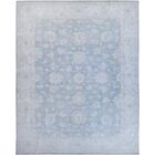 Hand-Knotted Wool Blue/Gray Area Rug