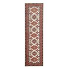 Kazak Hand-Knotted Beige/Red Area Rug