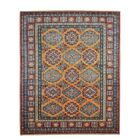 Kazak Hand-Knotted Gold/Red Area Rug