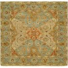 Sai Hand-Knotted Brown/Blue Area Rug Rug Size: Square 8'