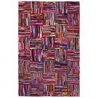 Brilliant Ribbon Hand Woven Cotton Purple/Red/Blue Area Rug Rug Size: 5' x 8'