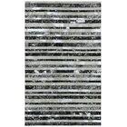 Matador Hand-Woven Silver/Black Area Rug Rug Size: Rectangle 4' x 6'