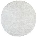 Baumann Hand-Loomed White Area Rug Rug Size: Round 5'