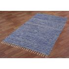 Complex Hand-Loomed Blue Area Rug Rug Size: 9' x 12'