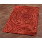 Brilliant Ribbon Hurricane Hand-Tufted Red Area Rug Rug Size: 4' x 6'