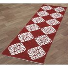 Jacquard Hand-Woven Red Area Rug Rug Size: Runner 2'6