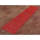 Sari Silk Handmade Red Area Rug Rug Size: Runner 2'6