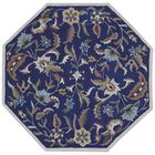 Traditions Hand-Tufted Blue Area Rug Rug Size: Octagon 8'