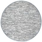 Matador Hand Woven Cotton Gray Area Rug Rug Size: Round 6'