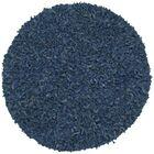 Baum Leather Shag Blue Area Rug Rug Size: Round 4'