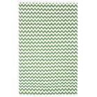 Hacienda Green/White Chevron Area Rug Rug Size: 8' x 10'