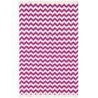 Hacienda Purple/White Chevron Area Rug Rug Size: 5' x 8'