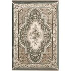 American Home Classic Aubuson Taupe/Black Area Rug Rug Size: Runner 2'6