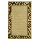 Modern Border Area Rug Rug Size: Rectangle 8' x 11'