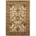 American Home Classic Arts & Crafts Antique Ivory & Sage Area Rug Rug Size: 5'6