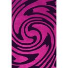 Modern Living Jazzy Purple/Black Rug Rug Size: 3'6