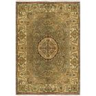 Signature Heirloom Hand-Knotted Wool Sage/Gold Area Rug Rug Size: Rectangle 2' x 3'