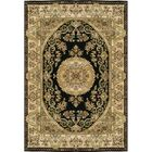 Signature Heirloom Hand-Knotted Wool Black/Gold Area Rug Rug Size: Rectangle 9' x 12'