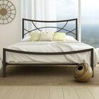 Equinox Platform Bed Color: Textured Dark Brown, Size: Full