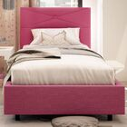 Diamond Upholstered Platform Bed Size: Twin, Color: Fuschia Pink
