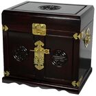 Lacquer Jewelry Armoire Color: Dark Rosewood Lacquer