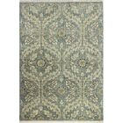 Bartron Hand-Knotted Teal Area Rug Rug Size: 9'9