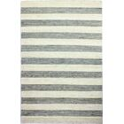Bluffton Hand-Knotted Cream/Grey Area Rug Rug Size: Rectangle 5' x 7'6
