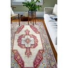 Fidela Ivory/Red Area Rug Rug Size: Rectangle 5' x 7'6