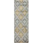 Hylan Hand Knotted Cotton Beige/Gold Area Rug Size: Runner 2'6