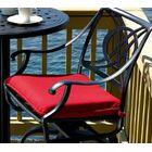 Cadiz Indoor/Outdoor Dining Chair Cushion Fabric: Slate