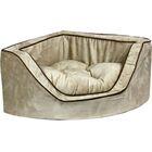 Luxury Corner Bolster Dog Bed Size: Medium (25