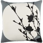 Flying Colors Harvest Moon Linen Throw Pillow Color: Charcoal/Cream/Black, Size: 20