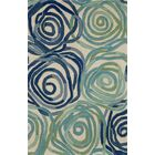 Terrill Rose Blue Area Rug Rug Size: 9' x 12'