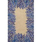 Bluford Cobalt Coral Border Blue/Beige Outdoor Area Rug Rug Size: Runner 2' x 8'